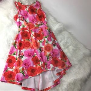 Scooter & Brown girls pink floral dress size 12